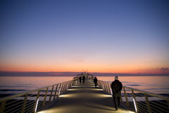 Pier at Lido di Camaiore Italy Royalty Free Stock Photography