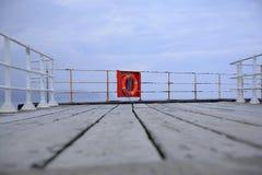 pier lifebuoy Obrazy Royalty Free