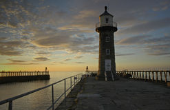 Pier lighthouse Royalty Free Stock Photo