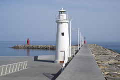 Pier lighthouse Royalty Free Stock Photography