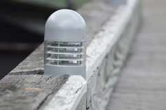 Pier lighting. Modern lighting in old pier.  Photo taken January 2014 Stock Photography
