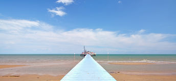 Pier of Lignano,adriatic Sea,italy Stock Photography