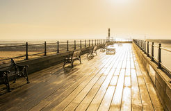 Pier at Littlehampton, Sussex, England Royalty Free Stock Images