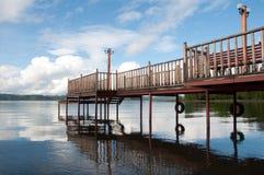 Pier in Lllanquihue See Lizenzfreie Stockfotografie