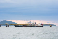 Pier for loading of coal ships Royalty Free Stock Images