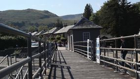 Pier at Loch Lomond in Luss, September 2015. Church bells on Sunday morning in York, England, HD footage stock footage