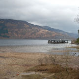 Pier at Loch Lomond shore Stock Photography