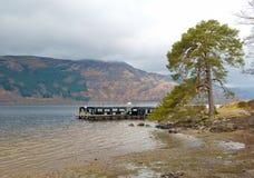 Pier at Loch Lomond shore Stock Photo