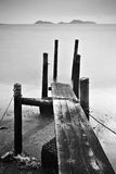 Pier lonely abstract Stock Images
