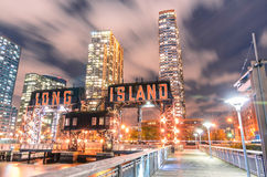 Pier of Long Island near Gantry Plaza State Park - borough of Qu Stock Photos