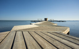 Pier low angle Stock Image