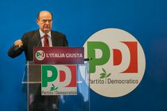 Pier Luigi Bersani. Italian Elections 2013, democratic party meeting Stock Images