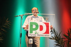 Pier Luigi Bersani, national secretary of the  PD Royalty Free Stock Images