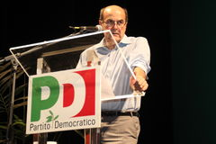 Pier Luigi Bersani, national secretary of the  PD Stock Photos