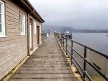 Pier at Luss village, Scotland, UK Royalty Free Stock Photo