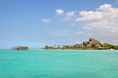 Pier with Luxury resort on Zanzibar Island Royalty Free Stock Photos