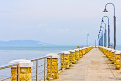 Pier. A pier in Malaysia. The Pier juts out to the Malacca Strait Royalty Free Stock Photography