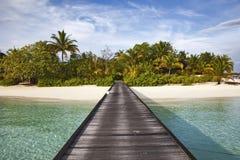 Pier Maldives Arkivfoton
