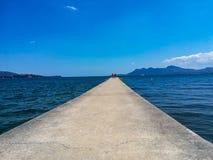Pier in Mallorca stockbilder