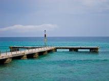 Pier at Mallorca/Majorca. Pier on a sunny day at Mallorca/Majorca Royalty Free Stock Image