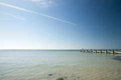Pier at Marathon key beach Stock Photography