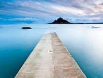 Pier in Marazion Stock Foto's