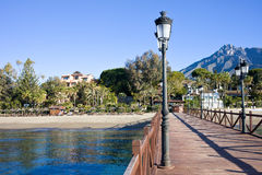 Pier in Marbella Royalty Free Stock Photo