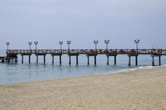 Pier in Marbella Stock Photos