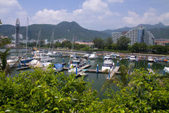 Pier Marina. Shenzhen, Guangdong, China as a yacht dock Royalty Free Stock Images