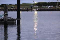Pier and marina royalty free stock photo