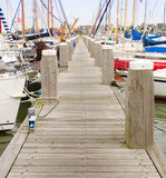 Pier met sailingboats Royalty-vrije Stock Foto