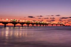 Pier in Miedzyzdroje Stockbilder