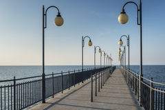 Pier in Miedzyzdroje at Baltic sea, Poland Royalty Free Stock Photography