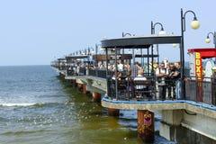 Pier in Miedzyzdroje Stock Images