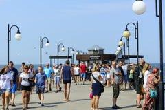 Pier in Miedzyzdroje Stock Photography