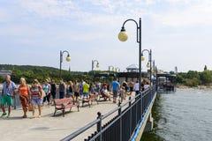 Pier in Miedzyzdroje Royalty Free Stock Images