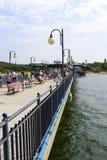 Pier in Miedzyzdroje Stock Photos