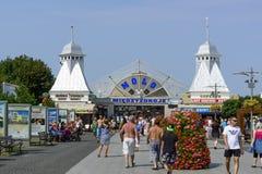 Pier in Miedzyzdroje Royalty Free Stock Photography