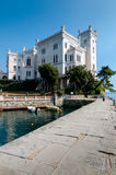 Pier at Miramare castle Royalty Free Stock Image