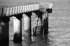 Pier. The pier at Mirangi Bay, Auckland, New Zealand Stock Photos