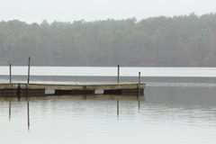Pier in mist stock image