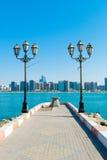 Pier mit einer Ansicht Lizenzfreie Stockbilder