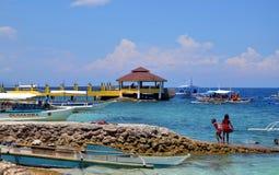 Pier of Moalboal, Philippines,  Cebu Island Stock Image