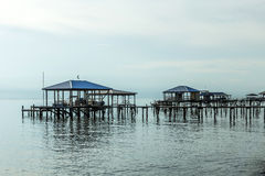 Pier in the Mobile Bay Royalty Free Stock Images