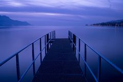 Pier in Montreux Royalty Free Stock Photo