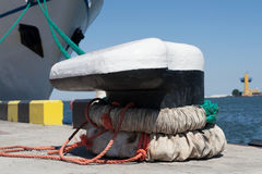 Pier mooring equipment Stock Images