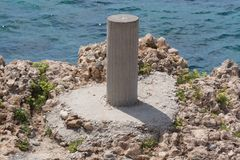Pier for mooring. In thasos Royalty Free Stock Photography