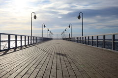 Pier in the morning. Orlowo, Gdynia Poland Stock Image
