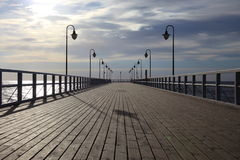 Pier in the morning. Stock Photography