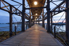 Pier Muelle del Tinto in Huelva, Spain Royalty Free Stock Photography